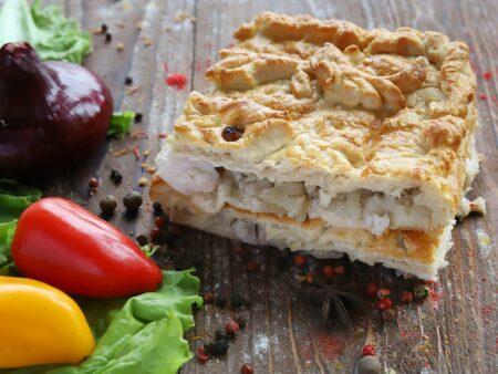 Пирог с судаком и картофелем